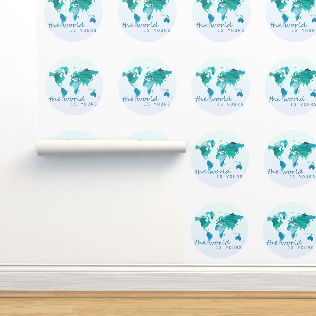 Pillow The World Is Yours On Isobar By Tycdesignco Roostery