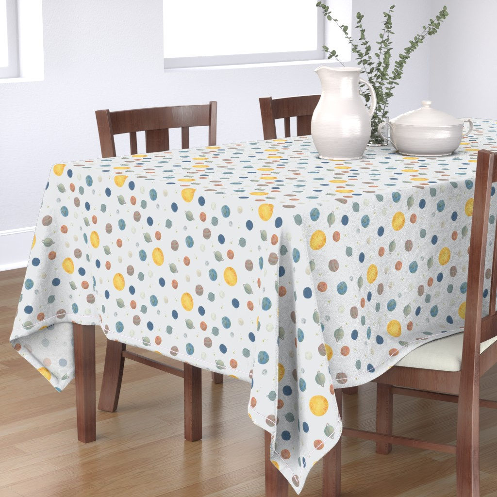 Bantam Rectangular Tablecloth featuring Planets by valeri_nick