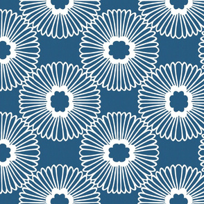 Flower - Denim - Reverse - Large Scale