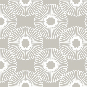 Flower - Warm Grey - Reverse