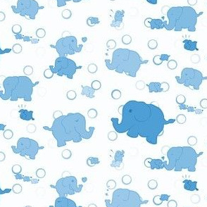 Elephant Parade (Blue Variant)