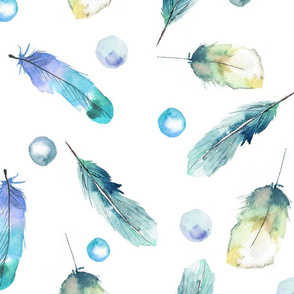 watercolor Feathers pattern