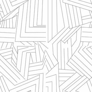 Black lines on white geometric angles