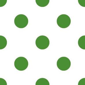 Dark Green Polka Dots