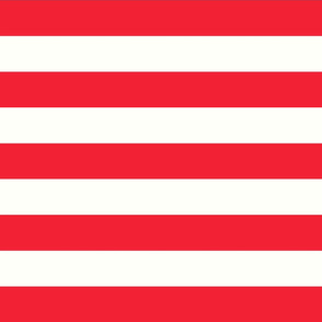 Horizontal Stripes Circus Stripes Red : 2 inch wide