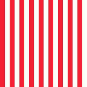 Vertical Stripes Red Circus Stripes : 1 inch wide