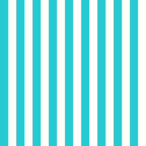 Vertical Stripes Teal : 1 inch wide