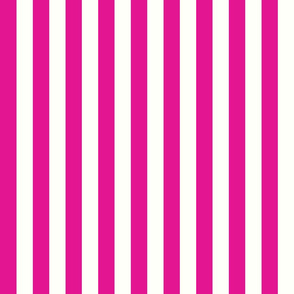 Vertical Stripes Pink : 1 inch wide