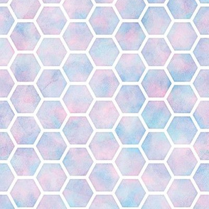 Honey Comb Pattern in Cotton Candy Watercolor