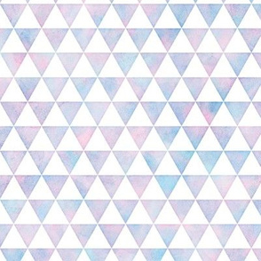 Triangle Pattern in Cotton Candy Watercolor