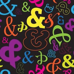 Ampersand Bright on Black