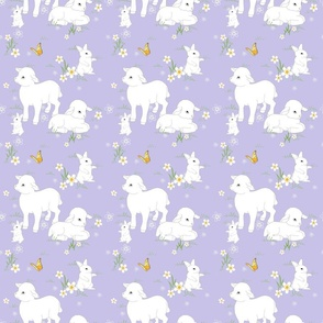 Spring Lambs and Bunnys - Purple
