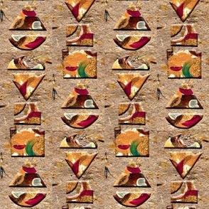 Geometric Shapes on Handmade Paper