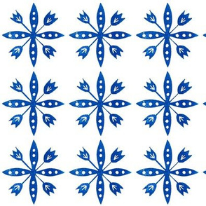 Swedish Floral Blue and White