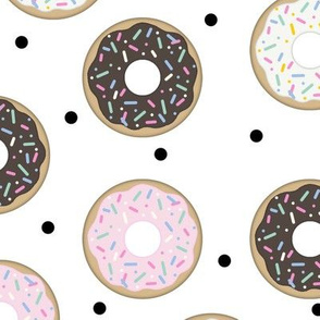Donuts White  with Black confetti (Large scale)