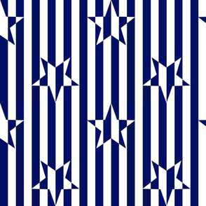 Stars and Stripes Navy Blue White