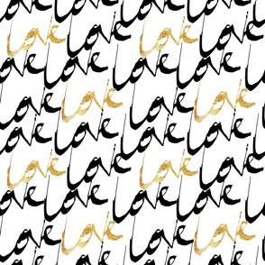 Gold Love pattern