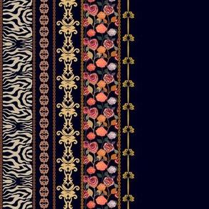 Lace floral vintage wallpaper
