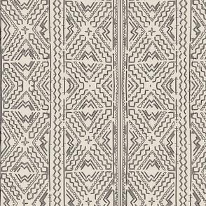 African Mud cloth mudcloth black on beige