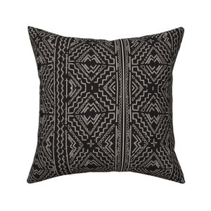 11d03201c3ba African mud cloth natural on black on Malay by jenlats   Roostery Home Decor