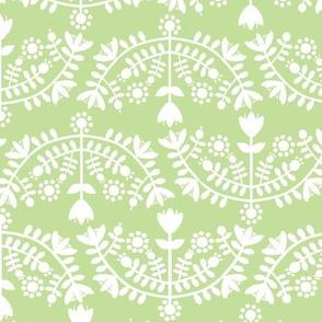 Folk Floral Light Green