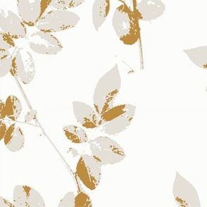 Neutral Botanical Wallpaper Ochre
