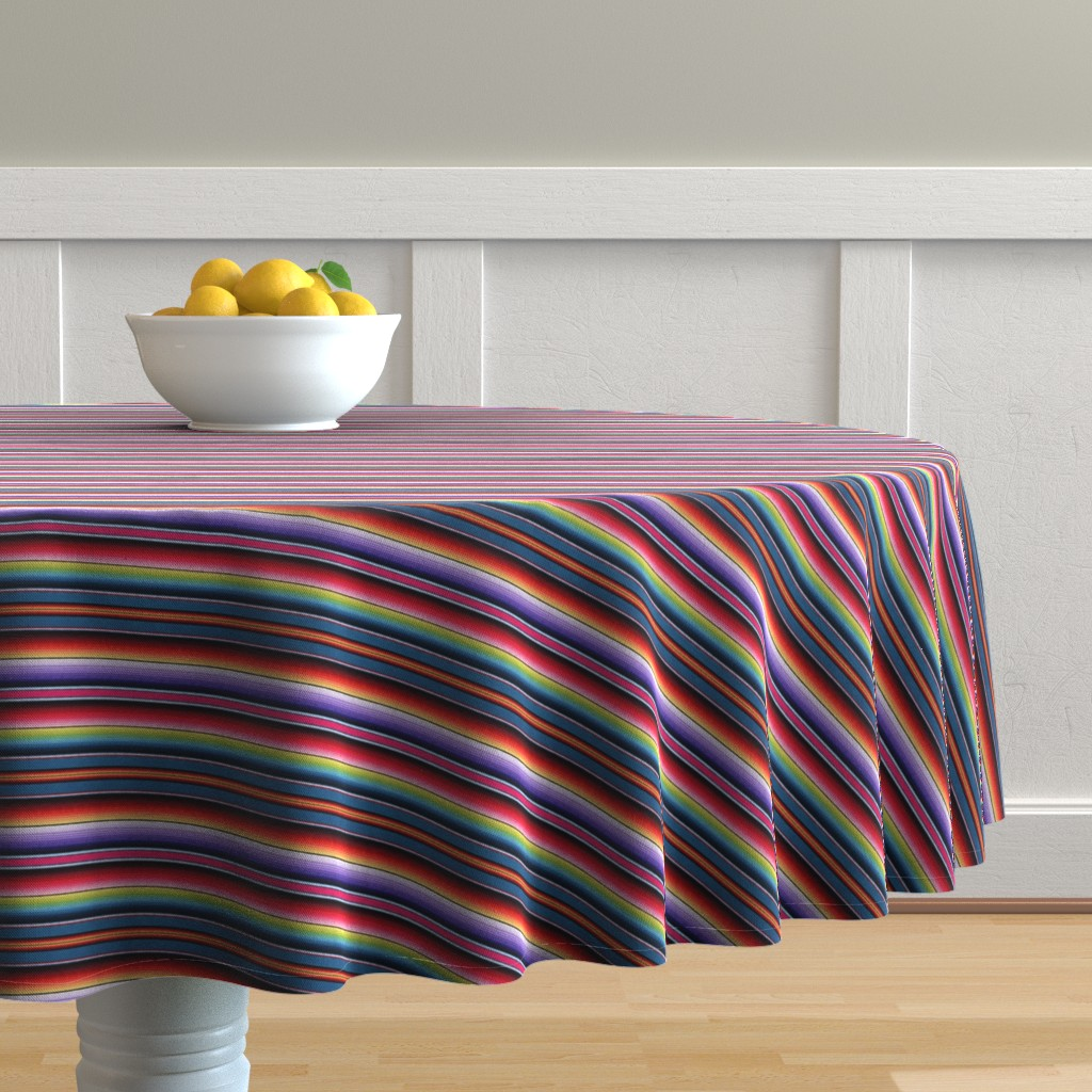 Malay Round Tablecloth featuring Zia NM by sewingpatternbee