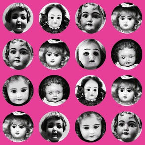 Doll Face on Pink