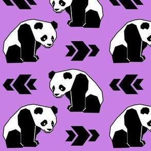 Panda with Purple Background