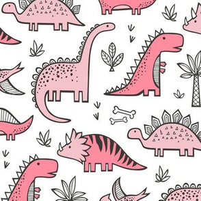 Dinosaurs in Pink