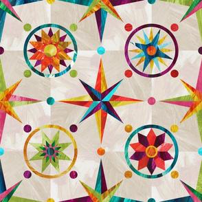 Mariner's Compass - Rainbow on Tea