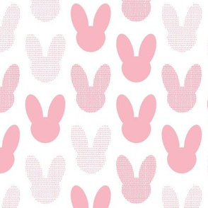 Abstract scandinavian style summer spring bunny ears in pastel pink for girls