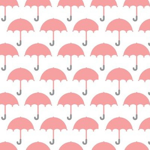 I love you in the rain vintage pastel umbrella fabric for cool kids and home textiles pink