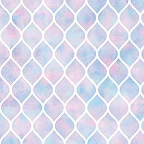 Ogee Pattern in Cotton Candy Watercolor