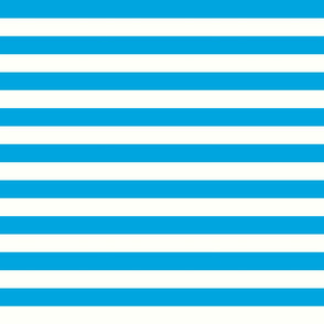 Horizontal Stripes Blue : 1 inch wide