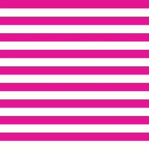 Horizontal Stripes Pink : 1 inch wide