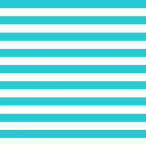 Horizontal Stripes Teal: 1 inch wide