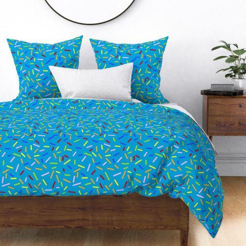 Ice Cream Sprinkles Blue Spoonflower, Ice Cream Sprinkles Bedding