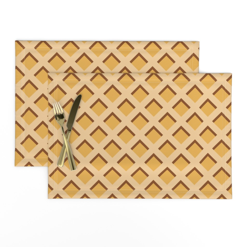 """Lamona Cloth Placemats featuring 2"""" Ice Cream Waffle Cone  by littlelionworkshop"""