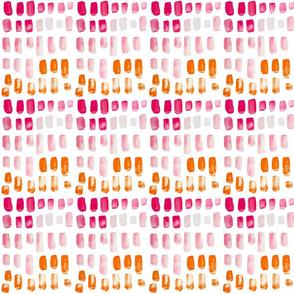 Pink + Orange Watercolor Mosaic // Small