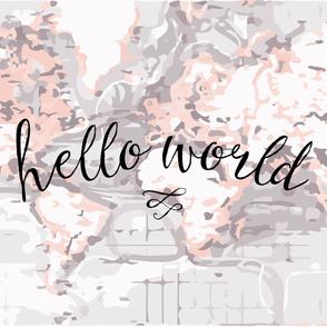 Hello World Baby Blanket // Blush