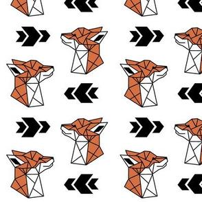 Geometric Fox Profile on White