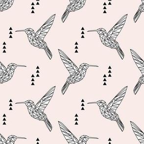 Geometric hummingbird // pale pink