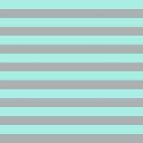 Stripes (Misty Teal and Grey)  // Glacier Woods