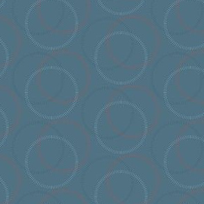 15-08B Circles in Gray grey Orange || home decor geometric Teal Spots dots _Miss Chiff Designs