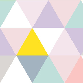 pastel triangle wholecloth