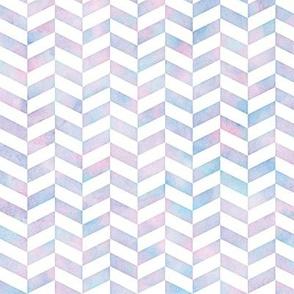 Herringbone Pattern in Cotton Candy Watercolor
