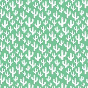Cactus garden cool trendy summer design for kids in green XS