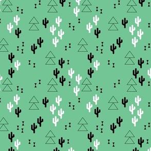 Geometric cactus scandinavian trend triangle design gender neutral green XS