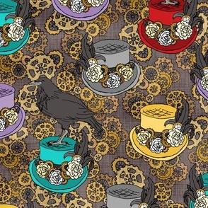 Steampunk Top Hats & Ravens